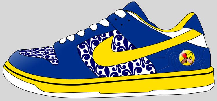 750x352 Nike Shoe Clipart