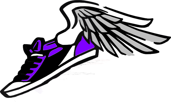 600x359 Track Shoe Running Shoe With Wings Clip Art