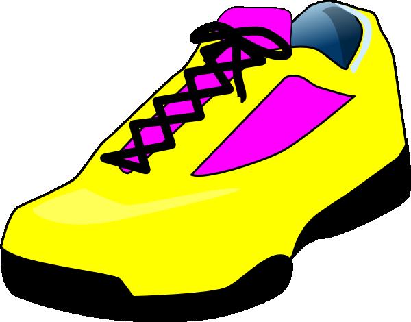 600x470 Yellow Shoe Clip Art