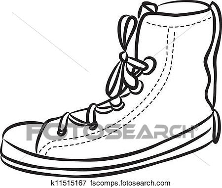 450x380 Clip Art Of Casual Shoes K11515167