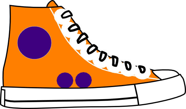 600x353 High Top Tennis Shoe Clip Art