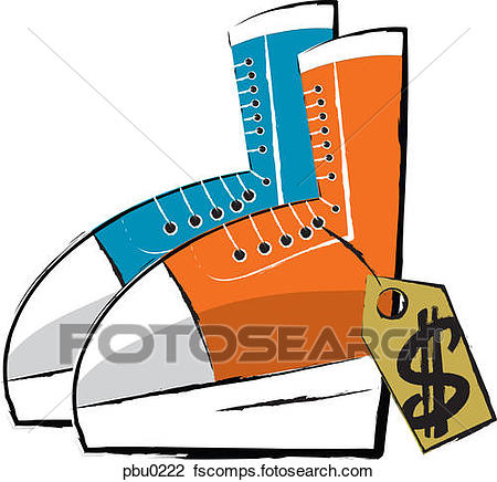 450x436 Clip Art Of A Pair Of Shoes With A Price Tag Pbu0222