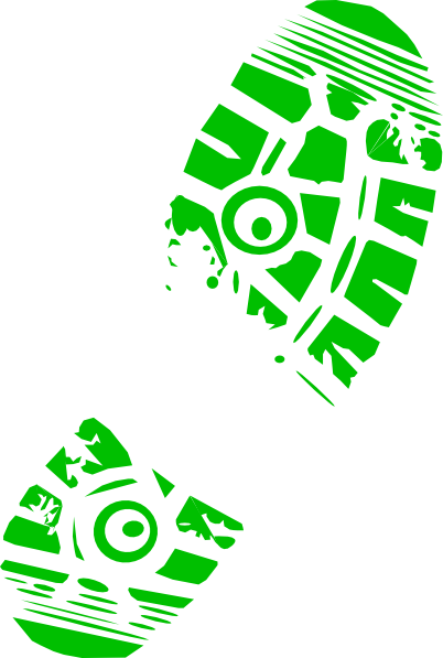 402x597 Green Running Shoe Print Clip Art