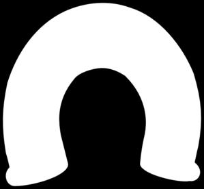 299x276 Bold Horseshoe Outline Clip Art