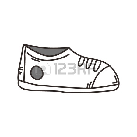 450x450 Outline Hand Drawn Shoe Royalty Free Cliparts, Vectors, And Stock
