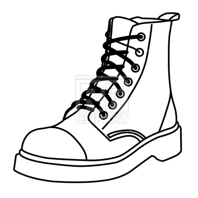 400x400 Boot Outline Royalty Free Vector Clip Art Image