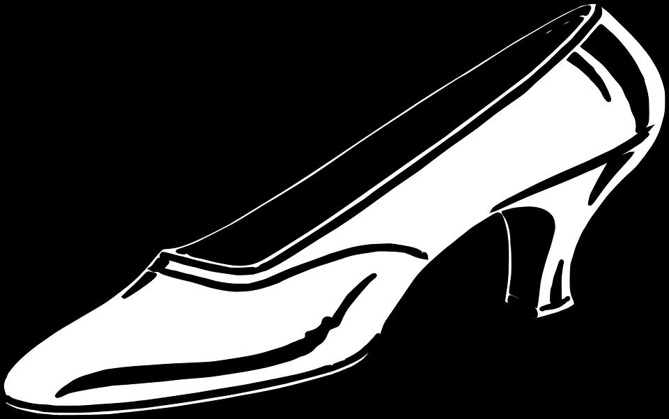 960x601 Heels Clipart Outline