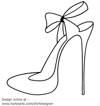 335x355 High Heel Outline Png Transparent High Heel Outline.png Images