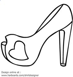 236x250 High Heel Printables High Heel Blade Shoes Outline With Ribbon