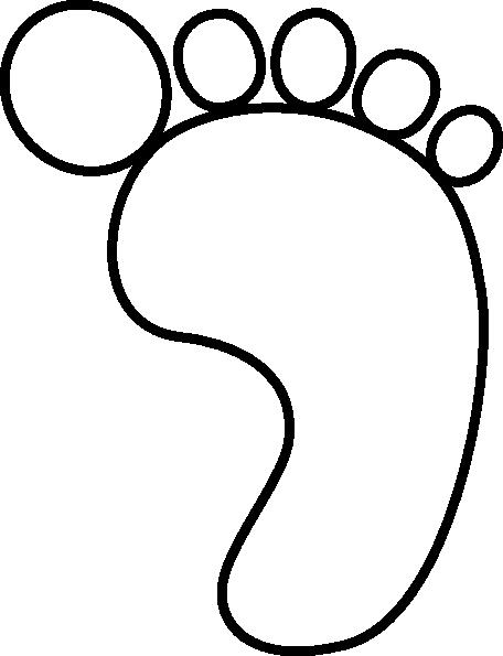 456x595 Big Foot Clipart Footprint Outline