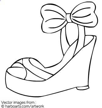 335x355 Download Wedges Sandal Outline