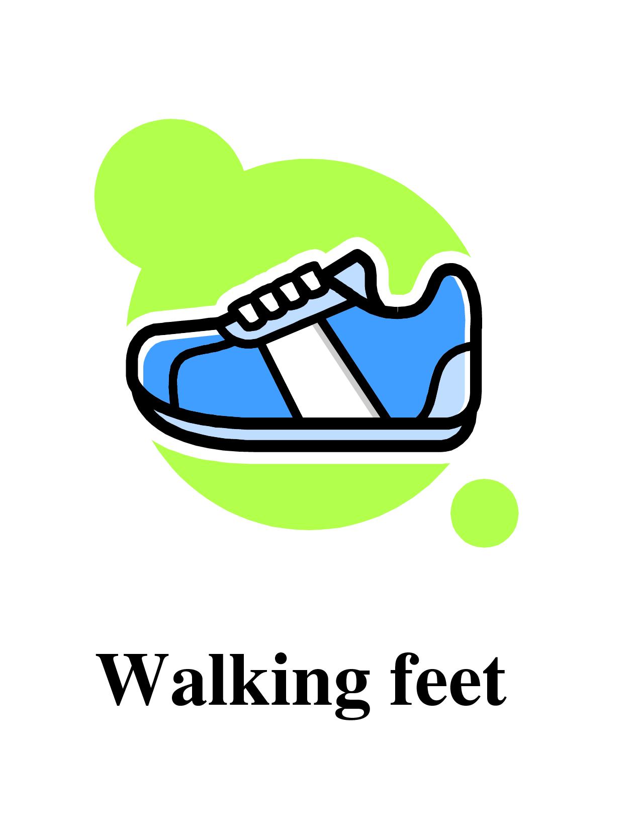 1275x1650 Photos Of Walking Feet Template Shoe Print Clip Art Left