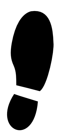 196x453 Shoe Print Clip Art