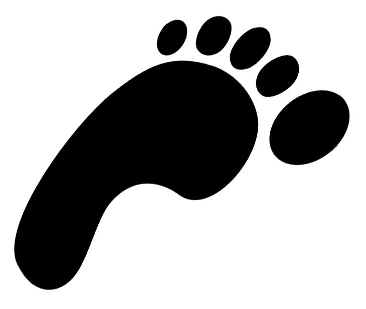 730x616 Shoe Print Outline Clip Art Free