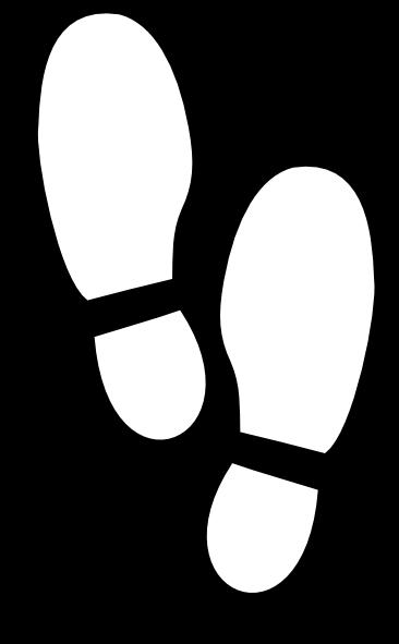 366x591 White Shoe Print Clip Art