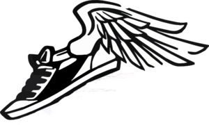 300x180 Running Shoe With Wings Clip Art