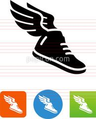 194x240 Athletic Shoe With Wings Icon