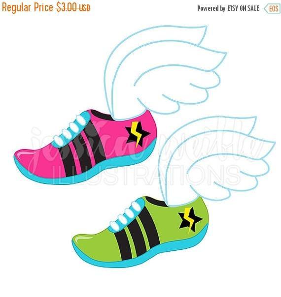 570x604 Sale Track Logo Cute Digital Clipart, Runner Clip Art, Running