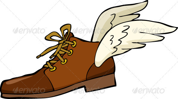 590x327 Shoe With Wings By Ded Mazay Graphicriver