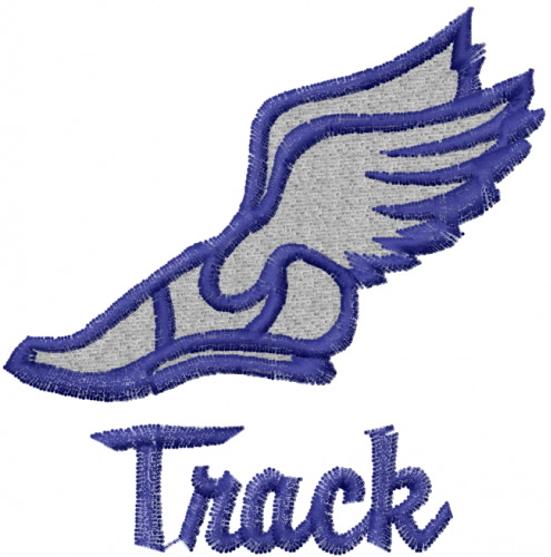 495x500 Track Shoe With Wings 0 Clip Art Image 2