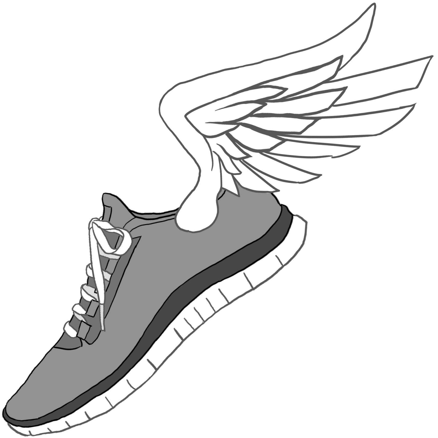 1800x1800 Track Shoe With Wings 6 Clip Art Image