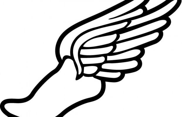 620x400 Wings Clipart Running Shoe