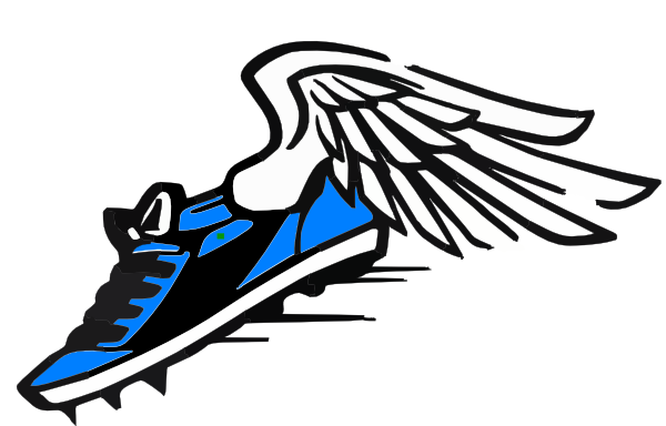 600x384 Blue Winged Shoe Clip Art