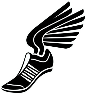 275x300 Track Shoes With Wings Clipart