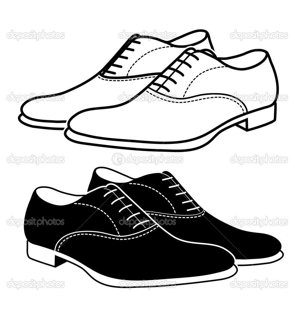 947x1024 Free Men Shoes Clipart Image