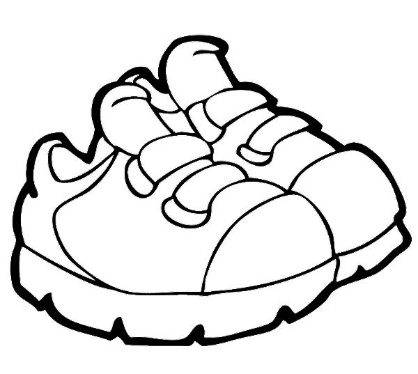600x537 Shoe Clipart Coloring
