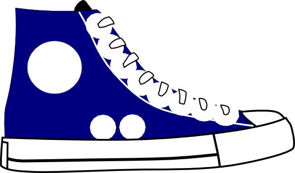 600x351 Sneaker Tennis Shoes Clipart Black And White Free 4