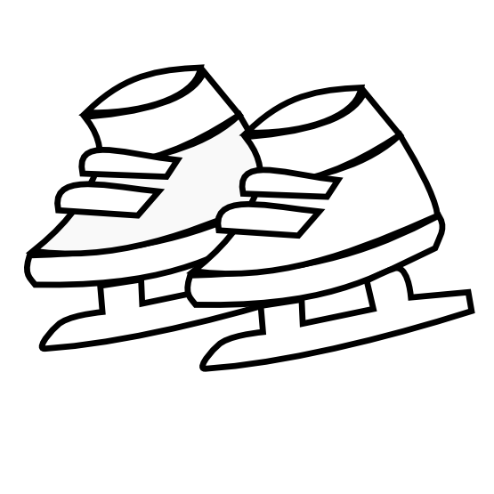 555x555 Clip Art Netalloy Skating Shoes Kids Black