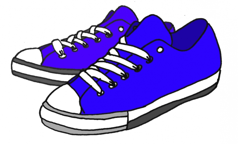 787x475 Free Clip Art Of Tennis Shoes Clipart 9 Walking