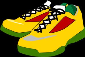 299x201 Running shoes clip art
