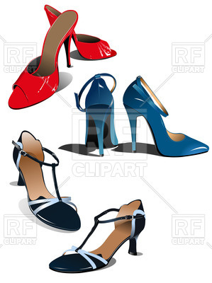 299x400 Fashion Women Shoes Royalty Free Vector Clip Art Image