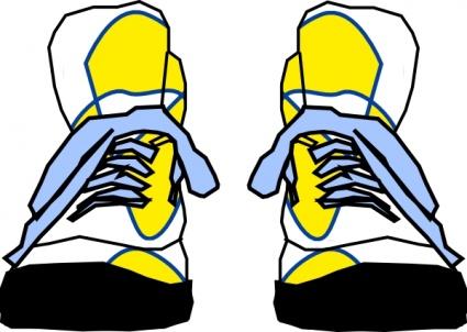 425x302 Free Clip Art Tennis Shoe Clipart Image