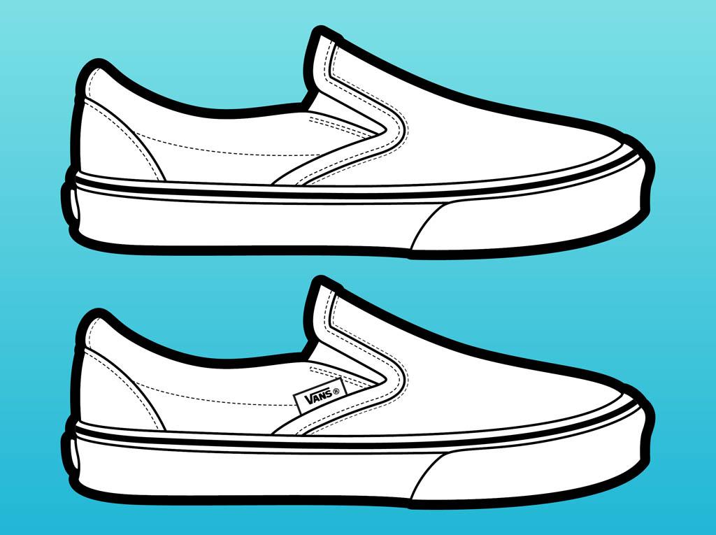 1024x765 Gym Shoes Clipart Vans Shoe
