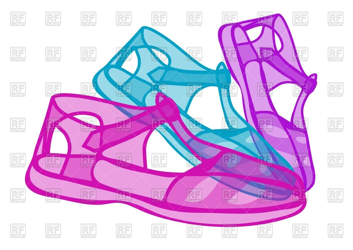 1200x849 Jelly Shoes Royalty Free Vector Clip Art Image