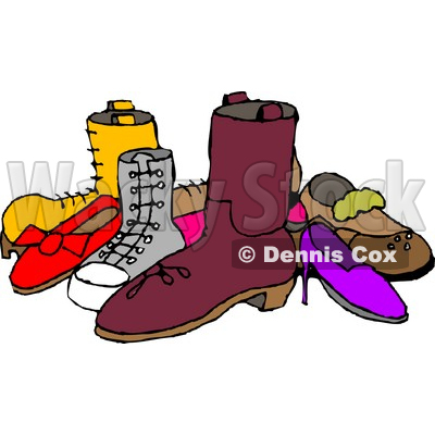 400x400 Of Assorted Shoes Clipart Picture Djart