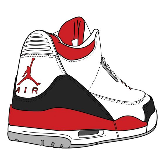 564x564 Clip Art Black And White Sneakers Clipart