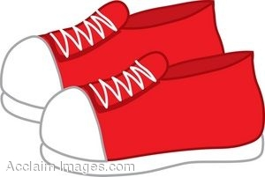 300x201 Clip Art Of A Pair Of Sneakers