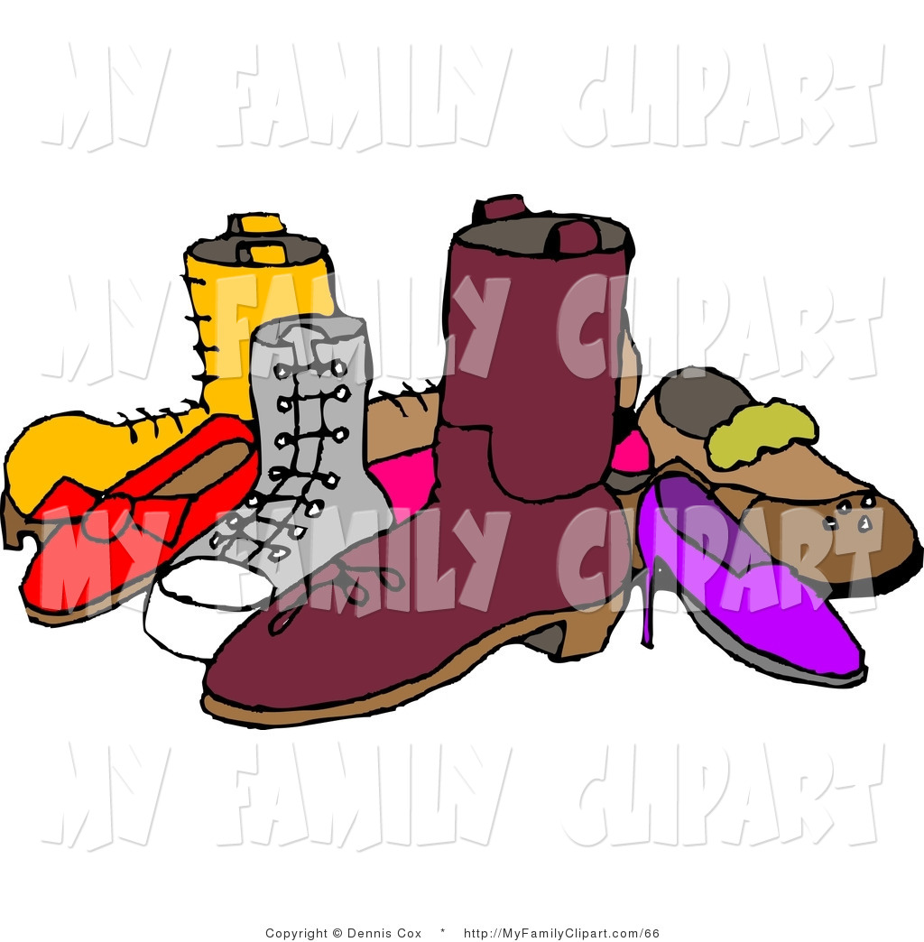 1024x1044 Clip Art Of A Pile Of Assorted Mismatched Shoes By Djart