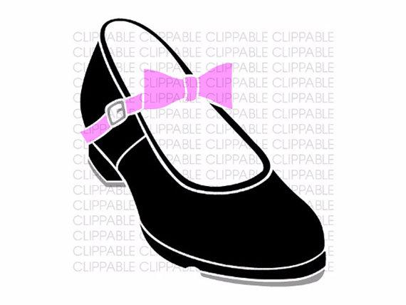570x428 Girls Tap Shoe Clip Art Digital Graphics Instant Download