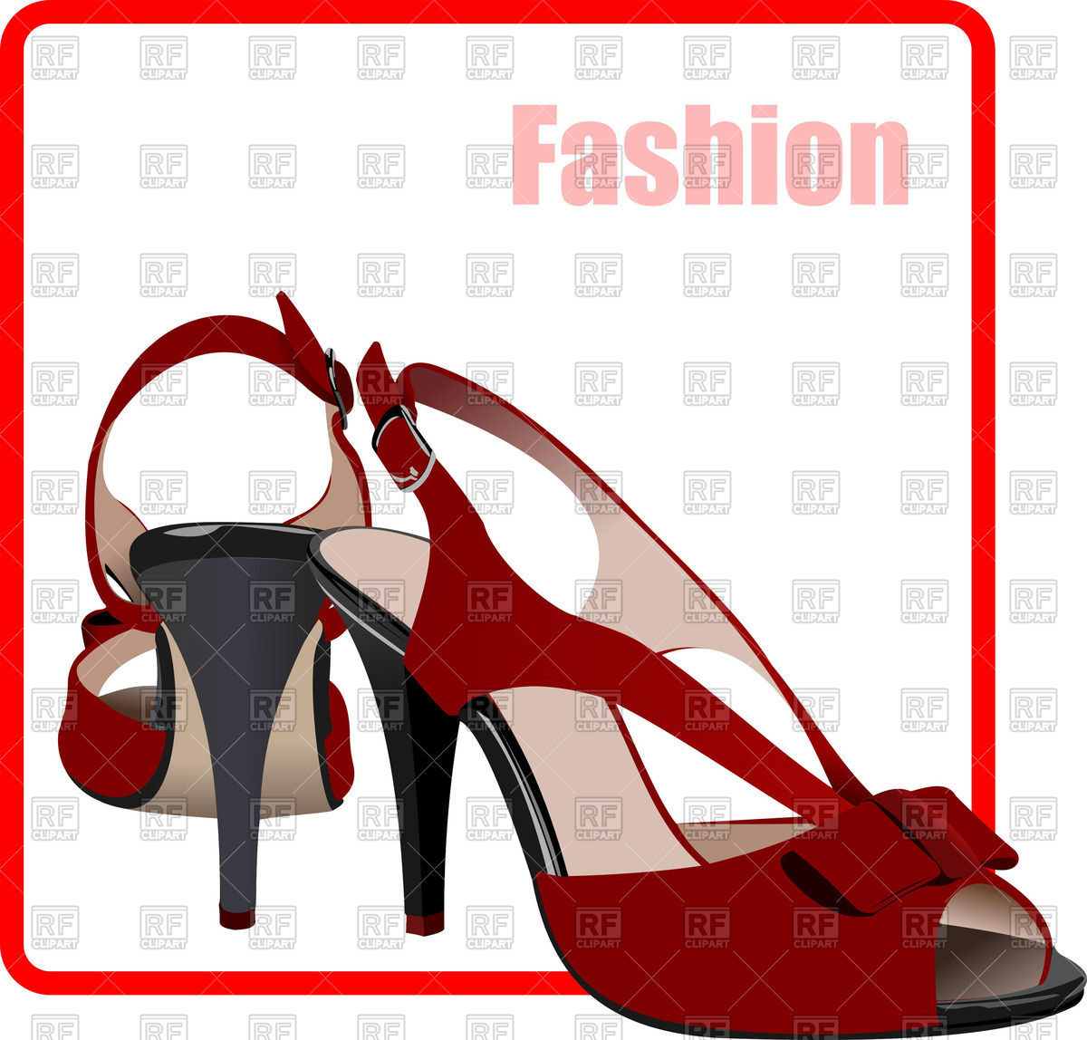 1200x1148 Poster With Fashion Women Shoes Royalty Free Vector Clip Art Image