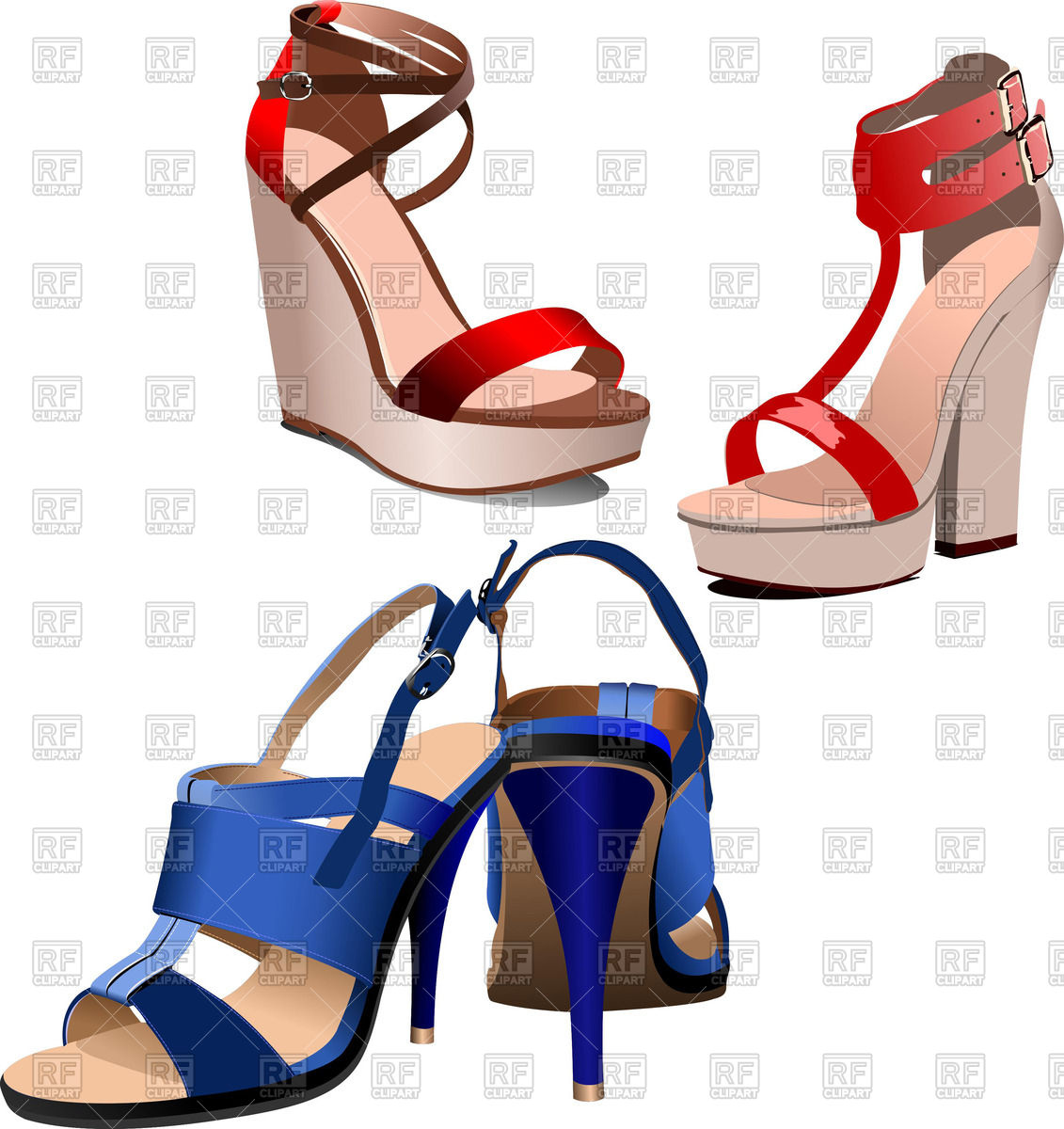 1131x1200 Stylish Female High Heeled Shoes Royalty Free Vector Clip Art