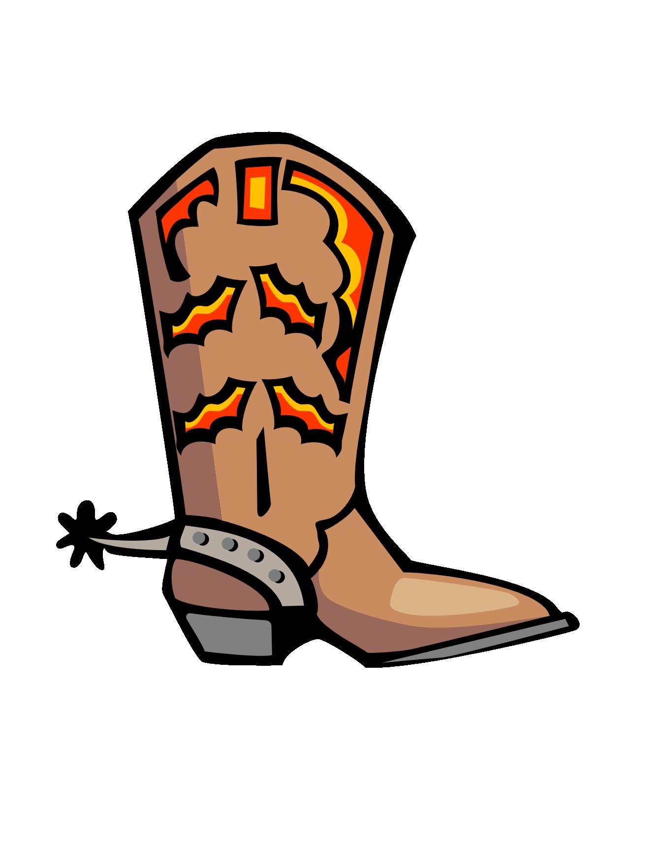1331x1722 Cowboy Shoes Clipart