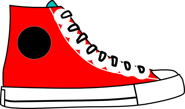 600x353 Red Hightop Clip Art