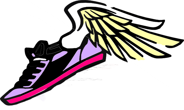 600x359 Track Shoe With Wings 8 Clip Art Image