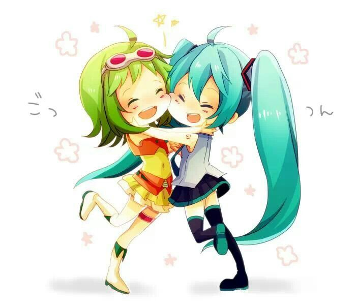 700x606 Gumi Amp Miku Friends!!! Xd Vocaloid Friends