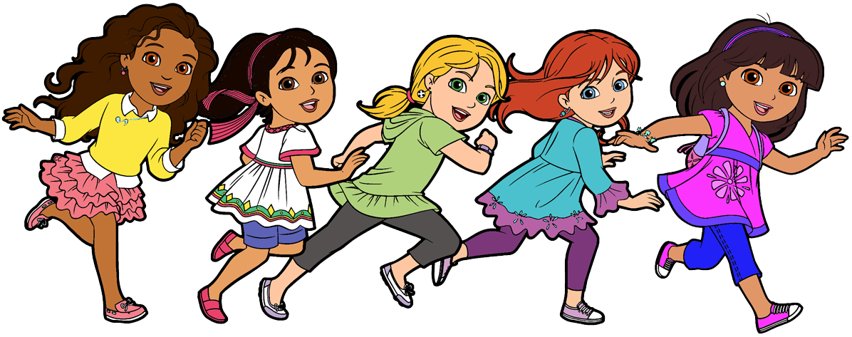 1196x473 High School Friends Clipart